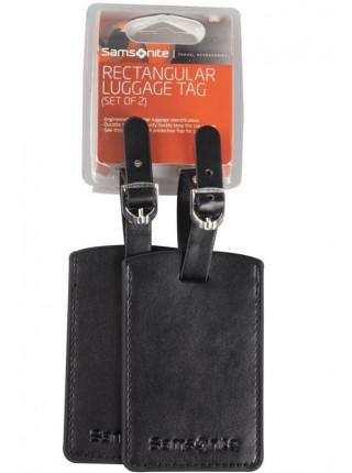 Набор из 2 бирок Luggage Accessories, черный