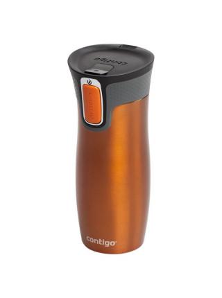 Термостакан Contigo West Loop, вакуумный, оранжевый