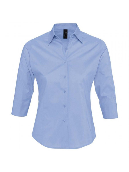 Рубашка женская с рукавом 3/4 EFFECT 140, голубая
