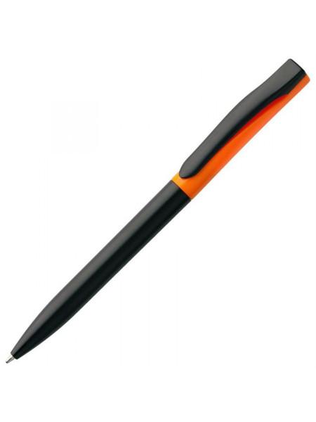 Ручка шариковая Pin Special, черно-оранжевая
