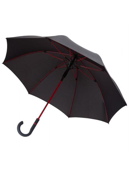 Зонт-трость с цветными спицами Color Style, красный