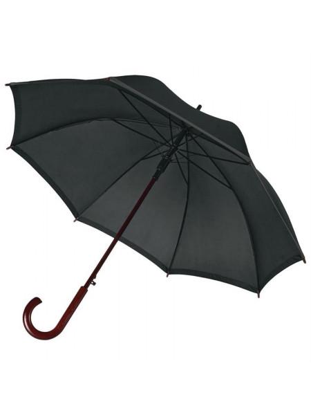 Зонт-трость светоотражающий Unit Reflect, черный