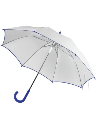 Зонт-трость Unit White, белый с синим