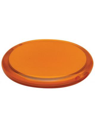 Зеркало Smile круглое, оранжевое