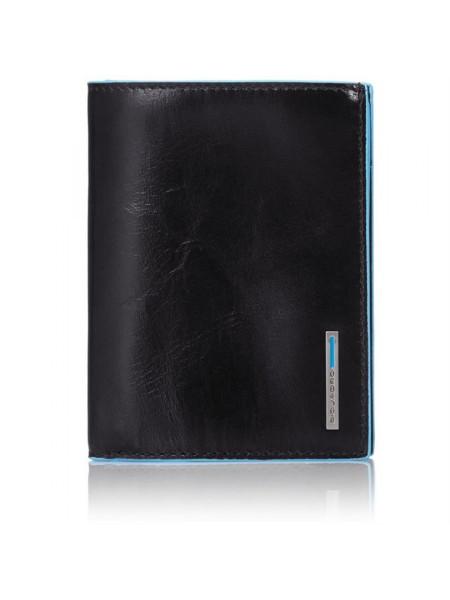 Бумажник Piquadro Blue Square, вертикальный, черный